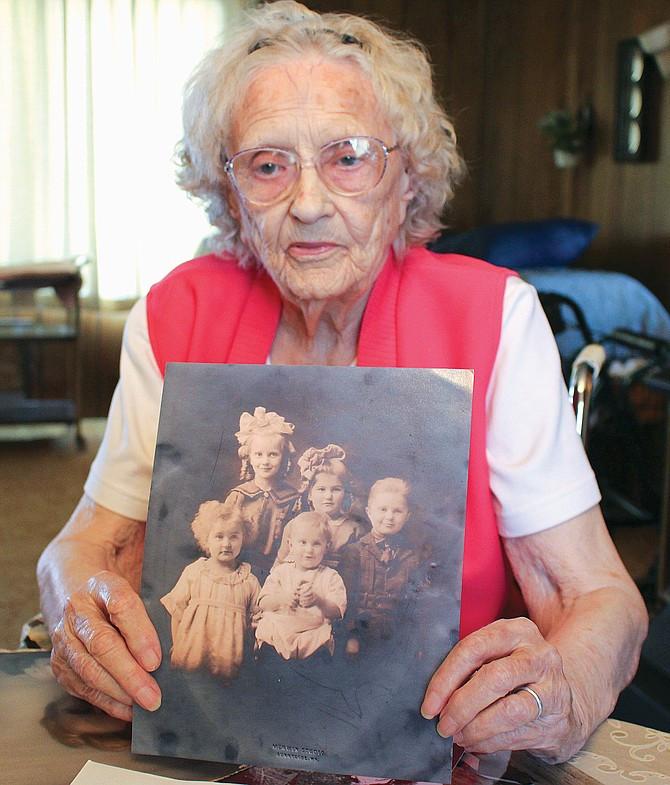 Pauline Shockley 100 years old in Sunnyside, WA