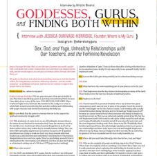 Mantra Magazine Interview - Print Only