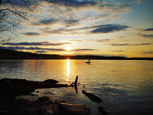Soirée de pêche en été