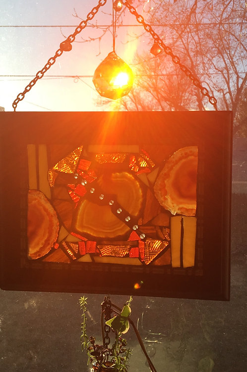 """Agate Path"" Mosaic Suncatcher Window"