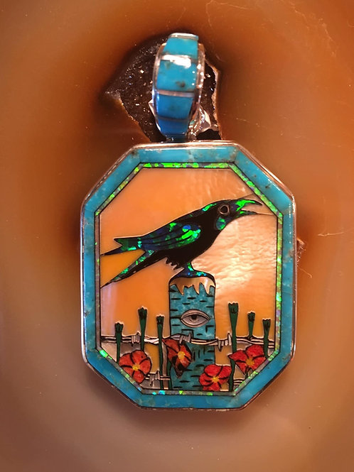 """It's the Same Story the Crow Told Me"" Pendant"