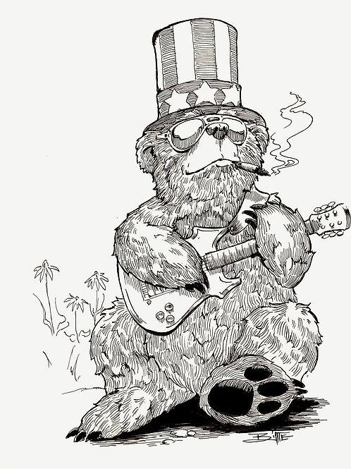 """U.S. Blues "" Original Quill n Ink"