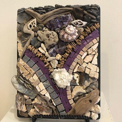 """""""Purple Wave"""" Wall Mosaic"""