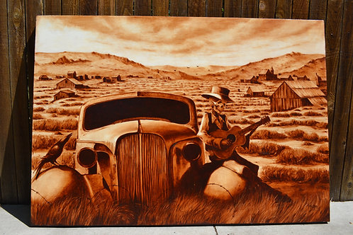 """Rust Never Sleeps"" Original Oil Painting"