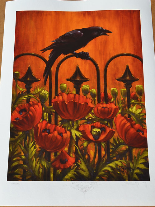 """Crow And Poppies"""