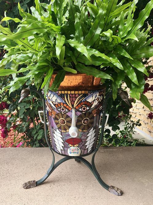 """""""Pot Head"""" Garden Mosaic"""