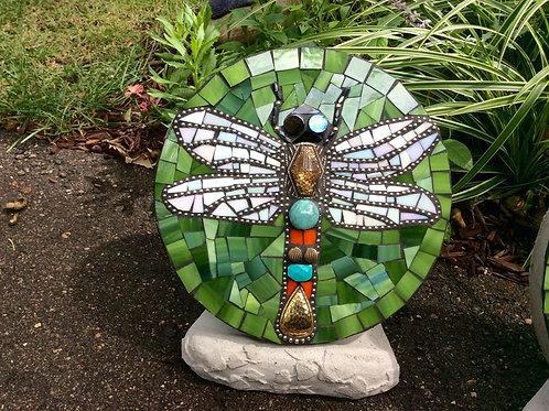 Dragonfly Mosaic Garden Stone