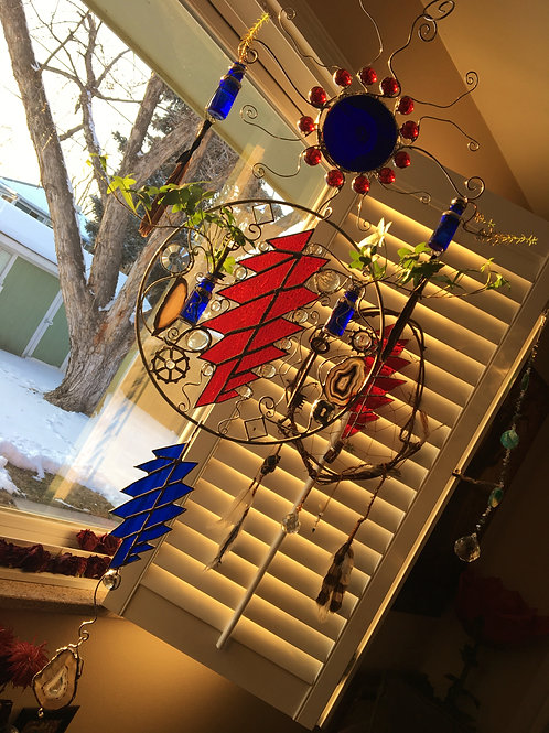 """US Blues"" Sun Catcher"