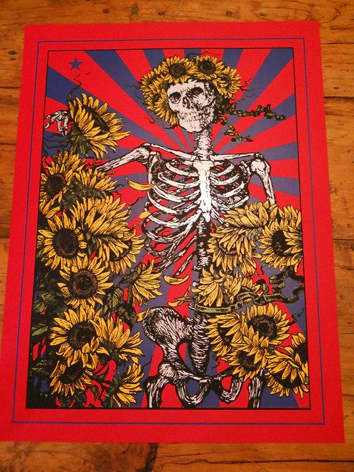 Bertha Sunflower  ScreenPrint