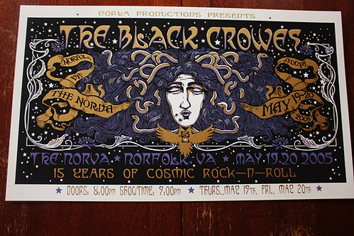 "The Black Crowes  ""Hotel Illness "" ScreenPrint"