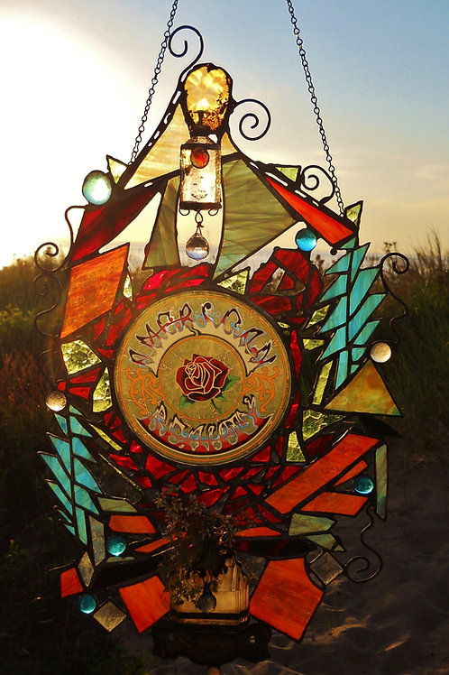 """""""American Beauty"""" Stained Glass Window"""