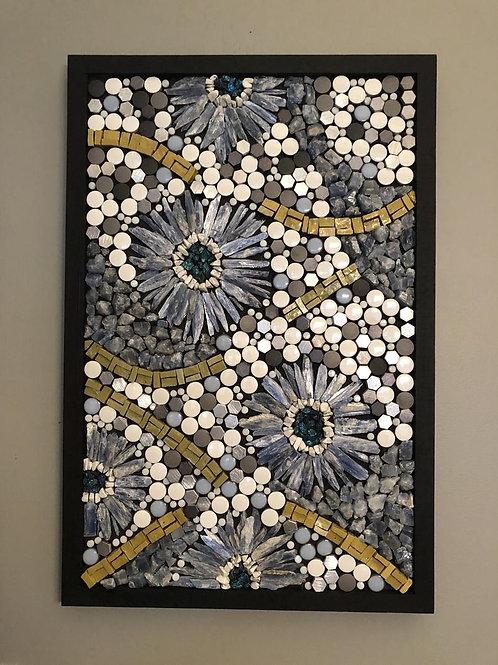 """""""Crystal Flower Power"""" Wall Mosaic"""