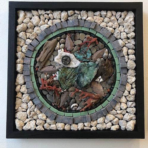 """Seaside"" Wall Mosaic"