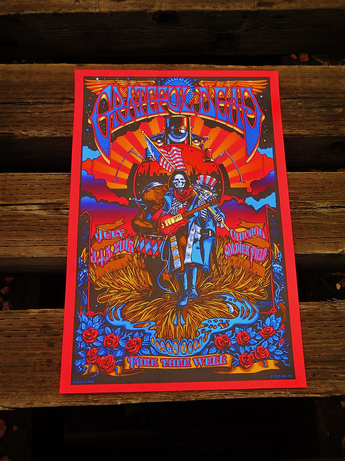 "Grateful Dead ""Fare Thee Well"" Screen Print"