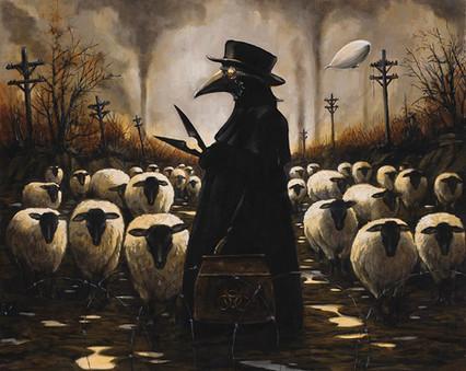 Corvids Sheering by Artist Richard Biffle