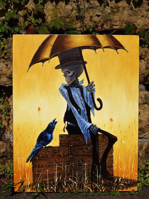 """Box of Rain"" Original Oil Painting"