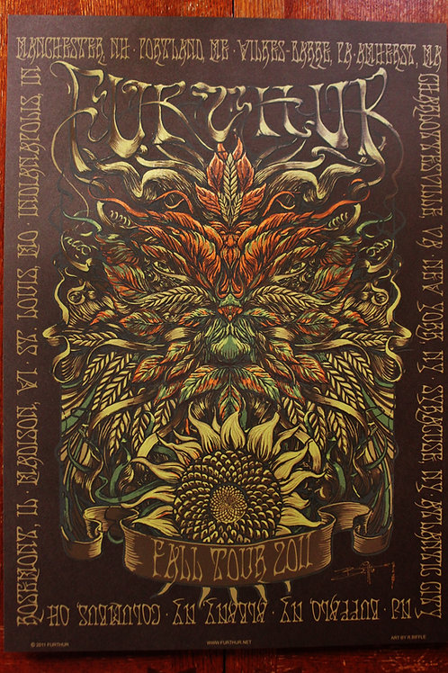 """Furthur Fall Tour Green Man"" Screen Print"