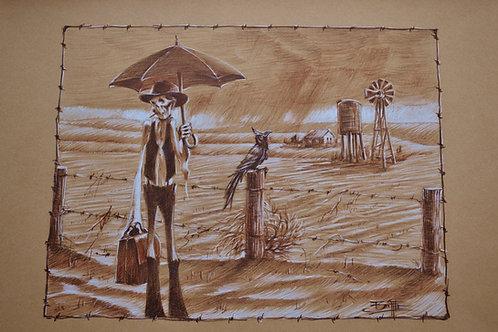 """""""Rain Maker """" Original Study Sketch"""