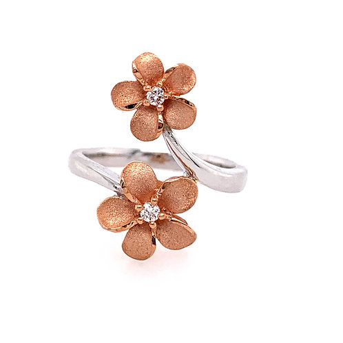 Denny Wong Double Plumeria Ring