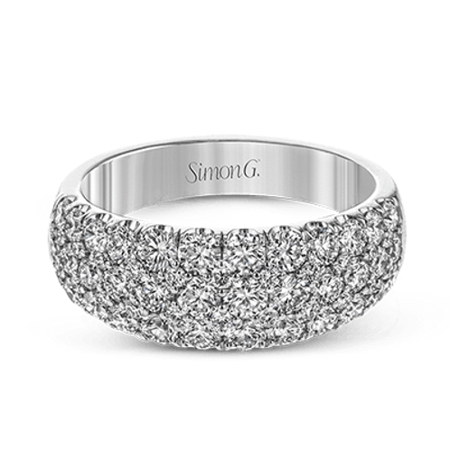 18 Karat White Gold Diamond Simon G Band