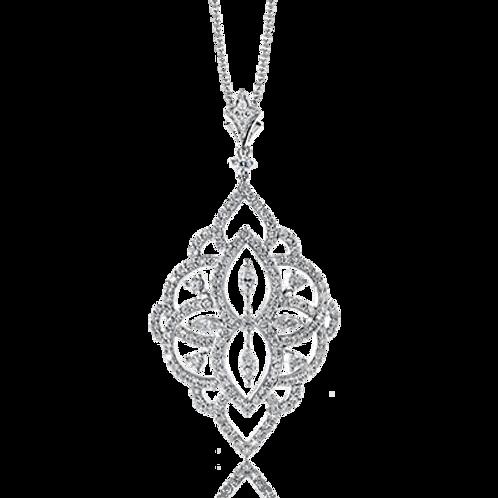 18 Karat White Gold Diamond Simon G Pendant