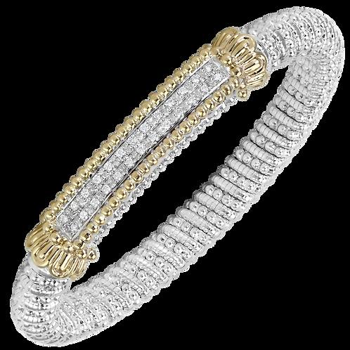 14 Karat Yellow Gold and Silver .26ctw Diamond Alwand Vahan Bangle