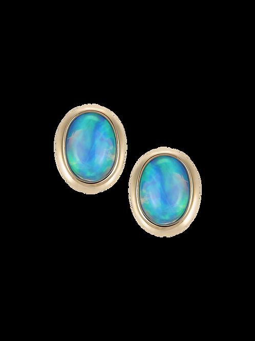 14 Karat Yellow Gold Denny Wong Opal Stud Earrings