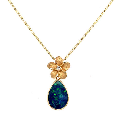 Denny Wong Plumeria Opal Pendant
