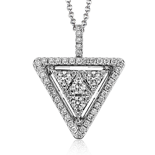 18 Karat White Gold Diamond Simon G Pendant
