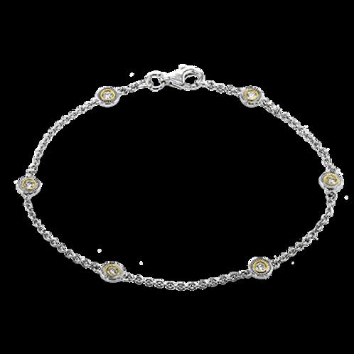 18 Karat Yellow and White Gold Diamond Simon G Bracelet