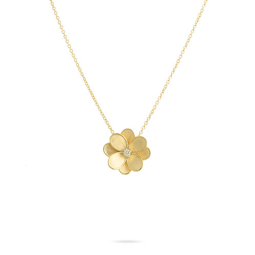 18 Karat Yellow Gold Lunaria Marco Necklace