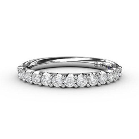 14 Karat White Gold .52 Carat Diamond Fana Ring