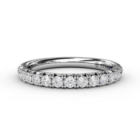 14 Karat White Gold .49 Carat Diamond Fana Ring