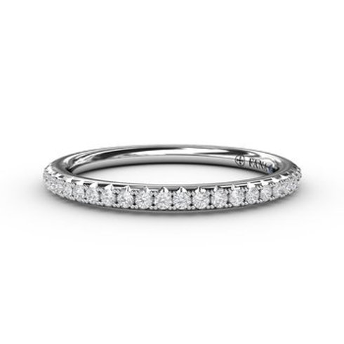 14 Karat White Gold .20 Carat Diamond Fana Ring