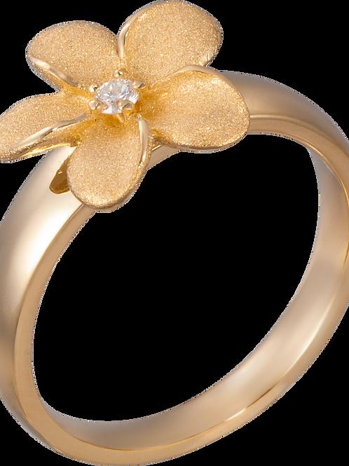14 Karat Yellow Gold Plumeria Denny Wong Ring