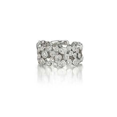 14 Karat White Gold Diamond Fana Ring