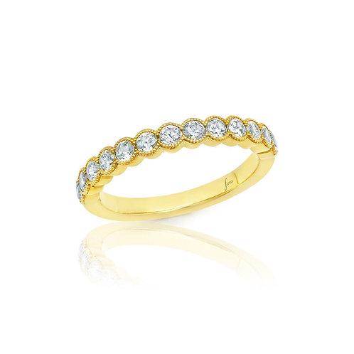 14 Karat Yellow Gold Diamond Fana Band