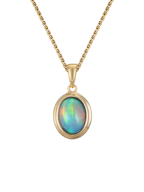 14 Karat Yellow Gold Denny Wong Opal Necklace