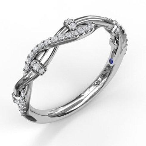 14 Karat White Gold .16 Carat Diamond Fana Ring