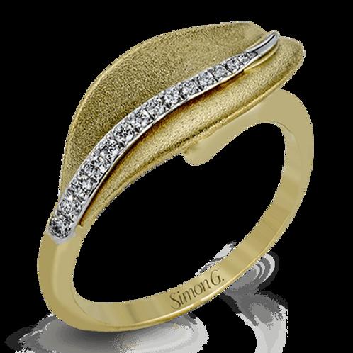 18 Karat Yellow Gold Diamond Simon G Ring
