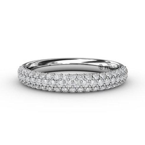 14 Karat White Gold .50 Carat Diamond Fana Ring