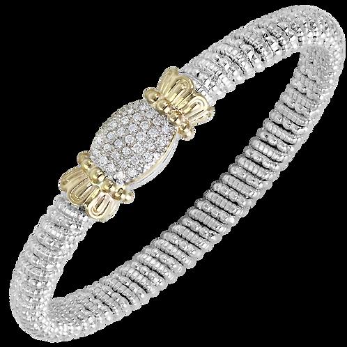 14 Karat Yellow Gold and Silver .31ctw Diamond Alwand Vahan Bangle