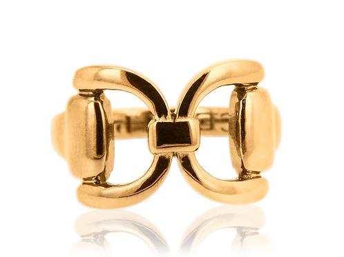 Gold Tied Bit Ring