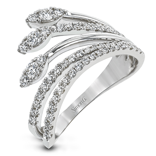 18 Karat White Gold Diamond Simon G Ring