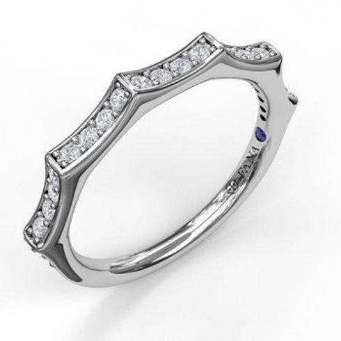 14 Karat White Gold .24 Carat Diamond Fana Ring