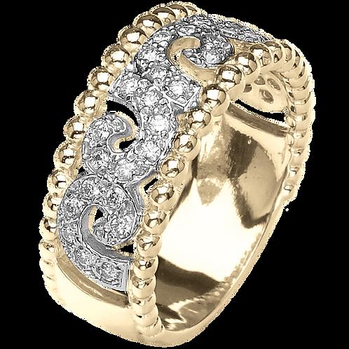 14 Karat Yellow Gold Diamond Alwand Vahan Ring