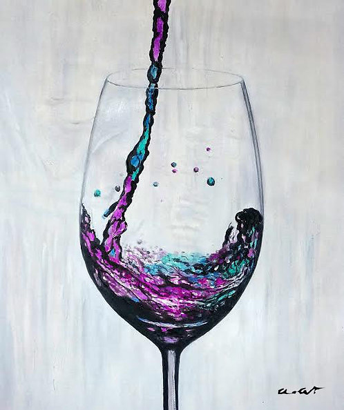 wine at the Delano painting