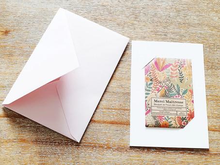 "[ JARDINAGE ] La carte à planter ""Merci Maîtresse"""