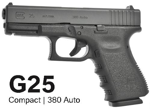 Pistola Glock G25 .380ACP 15+1 Tiros