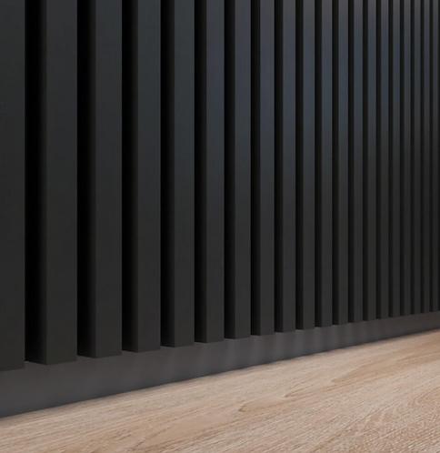 Wood Oak Wall Panels | 2 M / Black